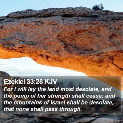 Ezekiel 33:28 KJV Bible Verse Image