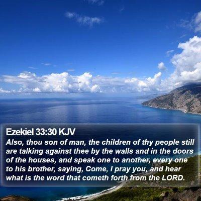 Ezekiel 33:30 KJV Bible Verse Image