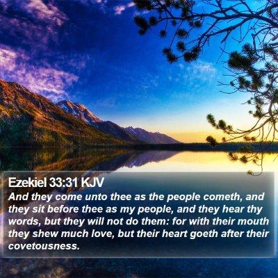 Ezekiel 33:31 KJV Bible Verse Image