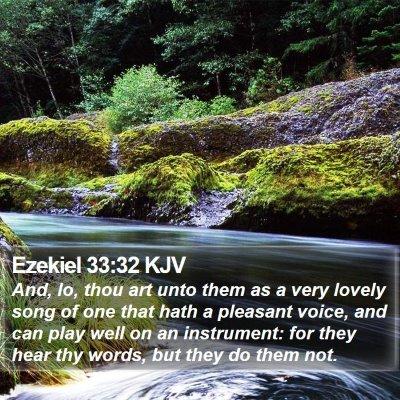 Ezekiel 33:32 KJV Bible Verse Image