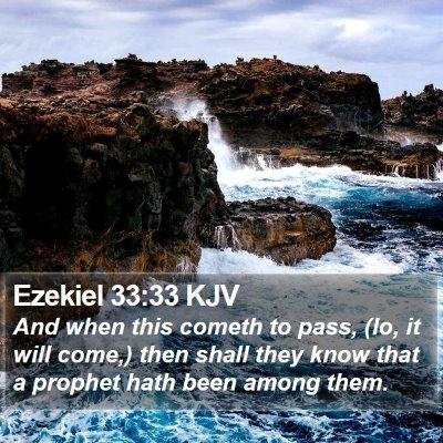 Ezekiel 33:33 KJV Bible Verse Image