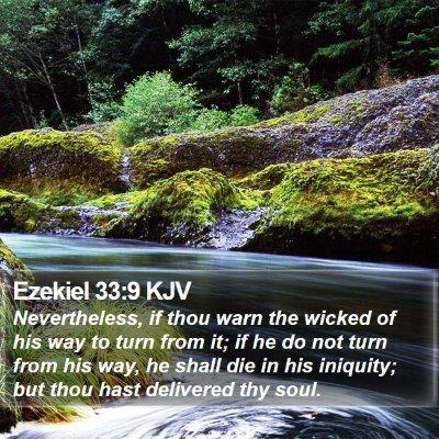 Ezekiel 33:9 KJV Bible Verse Image