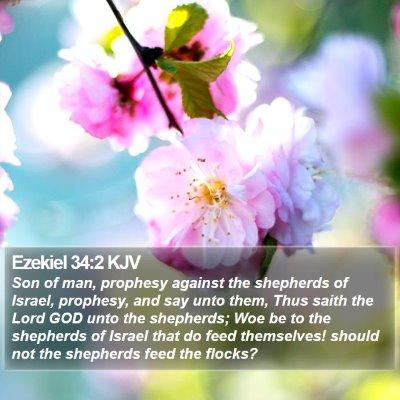 Ezekiel 34:2 KJV Bible Verse Image