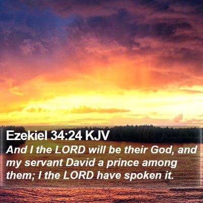 Ezekiel 34:24 KJV Bible Verse Image