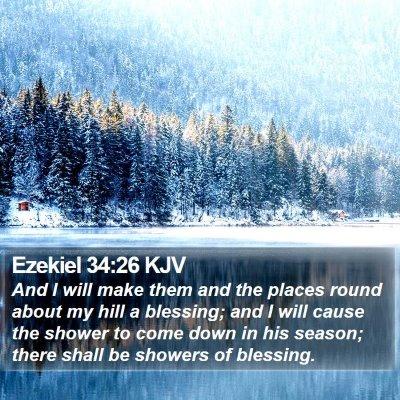 Ezekiel 34:26 KJV Bible Verse Image