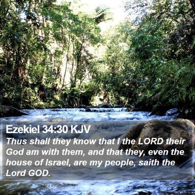 Ezekiel 34:30 KJV Bible Verse Image