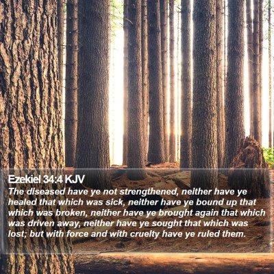 Ezekiel 34:4 KJV Bible Verse Image