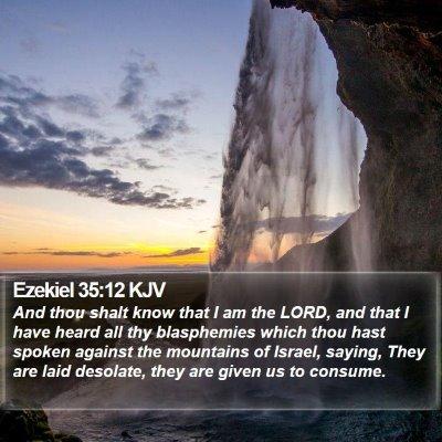 Ezekiel 35:12 KJV Bible Verse Image