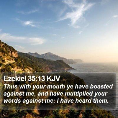 Ezekiel 35:13 KJV Bible Verse Image