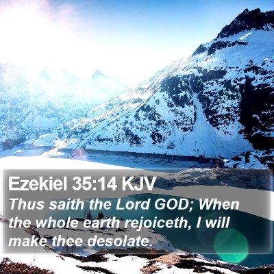 Ezekiel 35:14 KJV Bible Verse Image