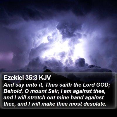 Ezekiel 35:3 KJV Bible Verse Image
