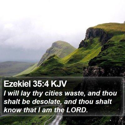 Ezekiel 35:4 KJV Bible Verse Image