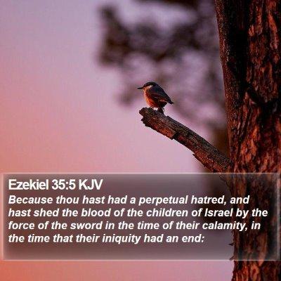 Ezekiel 35:5 KJV Bible Verse Image