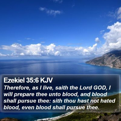 Ezekiel 35:6 KJV Bible Verse Image