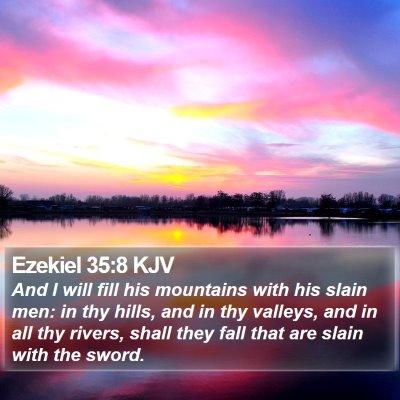 Ezekiel 35:8 KJV Bible Verse Image