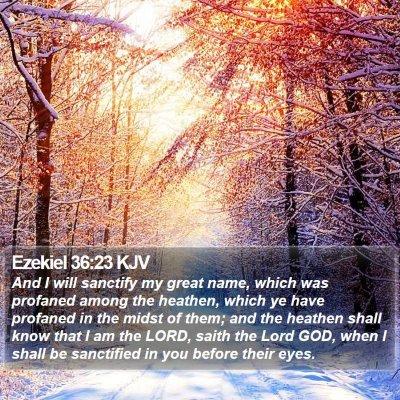 Ezekiel 36:23 KJV Bible Verse Image
