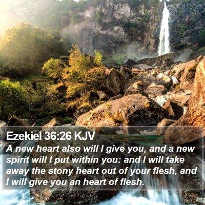 Ezekiel 36:26 KJV Bible Verse Image