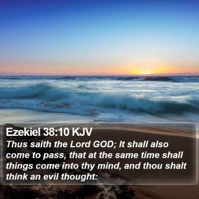 Ezekiel 38:10 KJV Bible Verse Image
