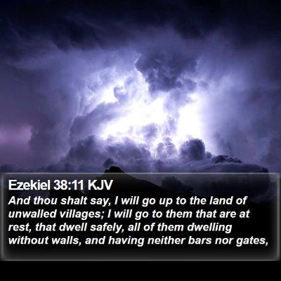 Ezekiel 38:11 KJV Bible Verse Image