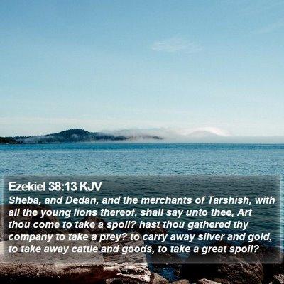 Ezekiel 38:13 KJV Bible Verse Image