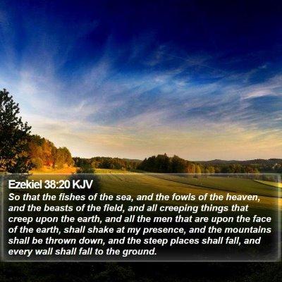 Ezekiel 38:20 KJV Bible Verse Image