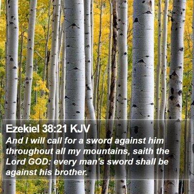 Ezekiel 38:21 KJV Bible Verse Image