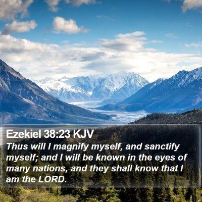 Ezekiel 38:23 KJV Bible Verse Image