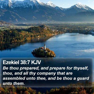Ezekiel 38:7 KJV Bible Verse Image