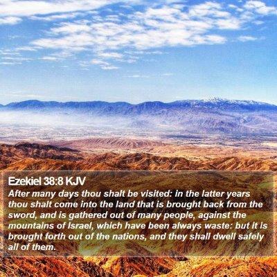 Ezekiel 38:8 KJV Bible Verse Image