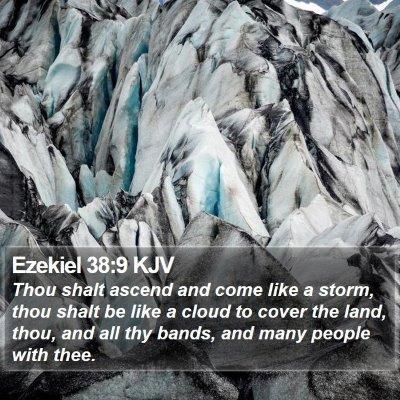 Ezekiel 38:9 KJV Bible Verse Image