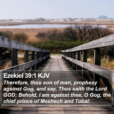 Ezekiel 39:1 KJV Bible Verse Image