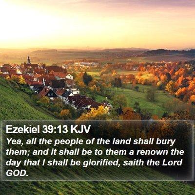Ezekiel 39:13 KJV Bible Verse Image