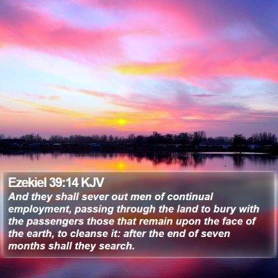 Ezekiel 39:14 KJV Bible Verse Image
