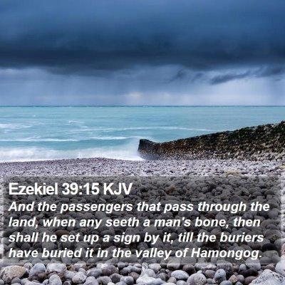 Ezekiel 39:15 KJV Bible Verse Image