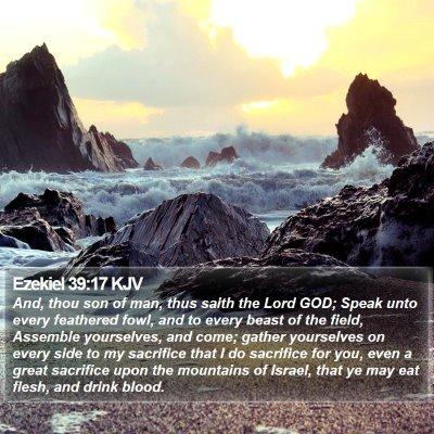 Ezekiel 39:17 KJV Bible Verse Image