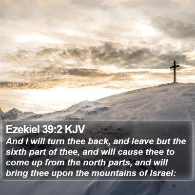 Ezekiel 39:2 KJV Bible Verse Image