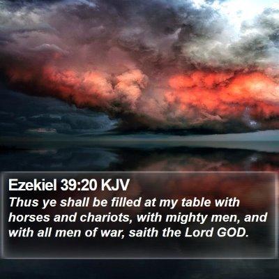 Ezekiel 39:20 KJV Bible Verse Image