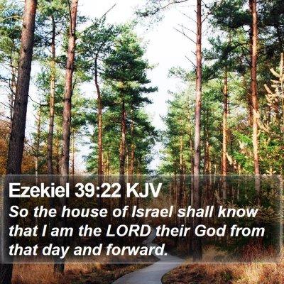 Ezekiel 39:22 KJV Bible Verse Image