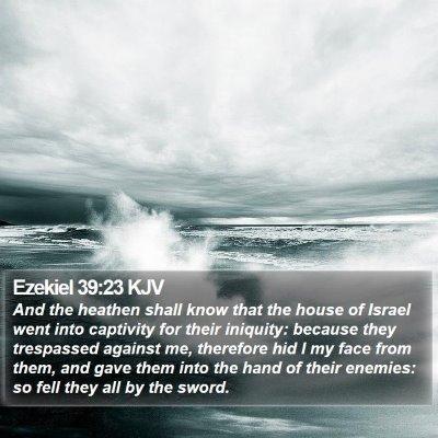 Ezekiel 39:23 KJV Bible Verse Image