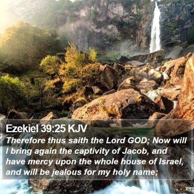Ezekiel 39:25 KJV Bible Verse Image