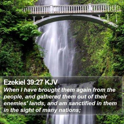 Ezekiel 39:27 KJV Bible Verse Image