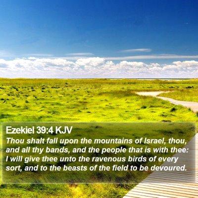 Ezekiel 39:4 KJV Bible Verse Image