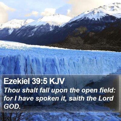 Ezekiel 39:5 KJV Bible Verse Image