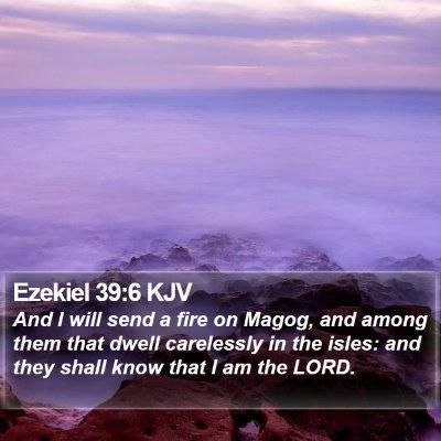 Ezekiel 39:6 KJV Bible Verse Image