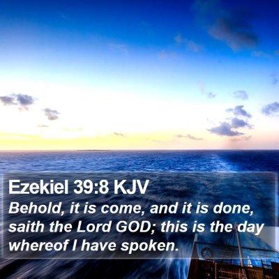 Ezekiel 39:8 KJV Bible Verse Image