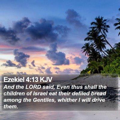 Ezekiel 4:13 KJV Bible Verse Image