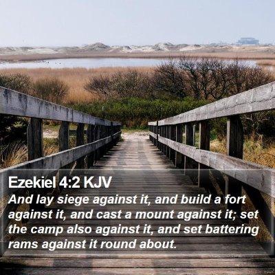 Ezekiel 4:2 KJV Bible Verse Image