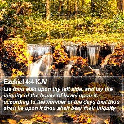 Ezekiel 4:4 KJV Bible Verse Image