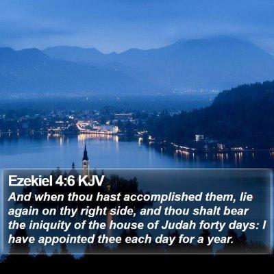Ezekiel 4:6 KJV Bible Verse Image