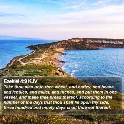 Ezekiel 4:9 KJV Bible Verse Image